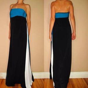 🆕 Laundry Shelly Segal Maxi Black Goddess Dress